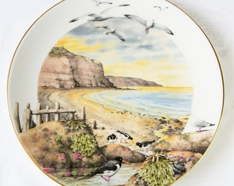 Peter Barett - February on the Coast - Royal Worcester Collectors Porcelain Plate