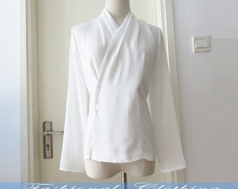 white shirt spring autumn summer shirt women clothing women shirt long sleeve shirt chiffon shirt office shirt blouse top