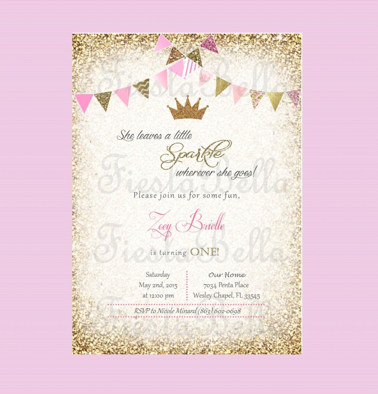 Royal Princess Baby Shower Invitations as beautiful invitation design