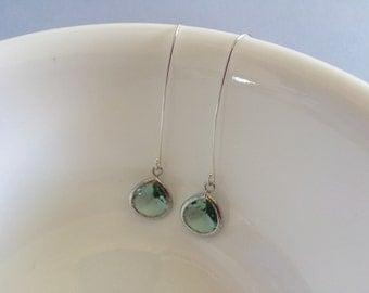 Pretty silver light blue earrings