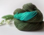 ON SALE Olive Azure, Hand-Dyed Sport-DK Weight Alpaca Yarn