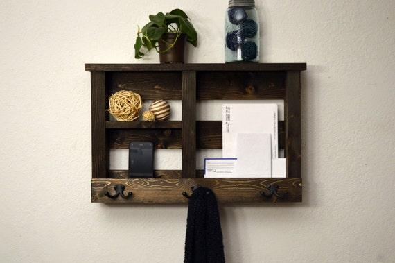 entry organizer wall shelf key hooks phone by. Black Bedroom Furniture Sets. Home Design Ideas