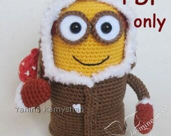 Eskimo Monster, crochet toy, amigurumi, PDF pattern