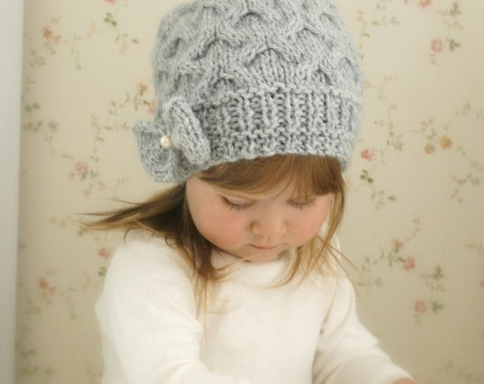 KNITTING PATTERN slouchy bow hat Krista (toddler /child /teen /woman sizes)