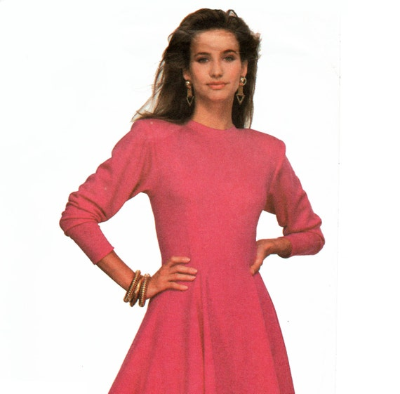 Semi Fitted Dress Pattern Long Sleeve Knit Dress by TheOldLeaf