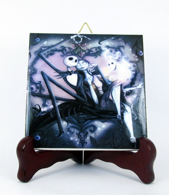 jack and sally from the nightmare before christmas wall decor. Black Bedroom Furniture Sets. Home Design Ideas