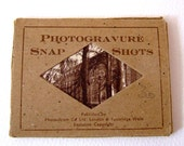 Vintage 1950s Photochrom Photogravure Snap Shots Sepia Photographs Winchester Cathedral Winchester England