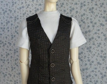 4 colors! -  OOAK SD BJD Metallic stripe vest