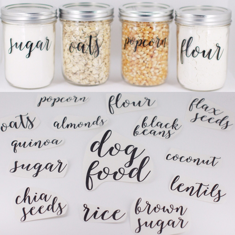 Pantry Labels Fully Custom Pantry Labels Jar Labels