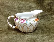 Royal Danube Porcelain Creamer, Floral Creamer with Gold Decoration
