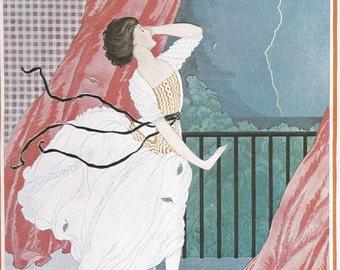 Vogue Magazine Cover 1921 art deco art nouveau home decor print fine art fashion vintage from 1981