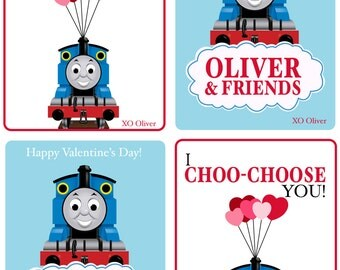 Thomas the Train Custom Valentine's Day Card PRINTABLE FILE