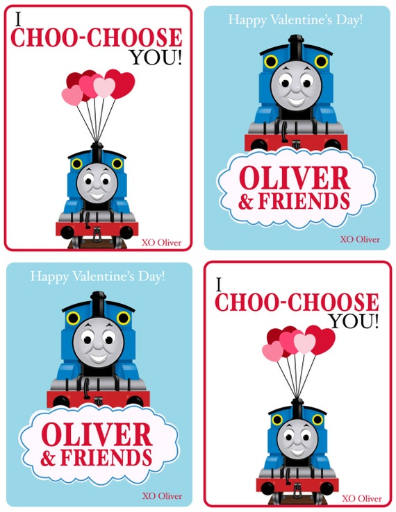Thomas the Train Custom Valentines Day Card PRINTABLE – Thomas Valentine Cards