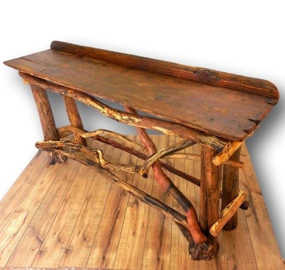 Extra Long Foyer Table : Extra long sofa table reclaimed wood entryway