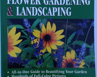 """GARDEN and LANDSCAPE BOOK is a Large 384 page Softcover Book """"The Encyclopedia of Flower Gardening &  Landscaping"""" by Time Life Books"""