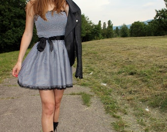 Black and White Stripped Summer Dress
