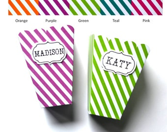 striped popcorn boxes set of 6 popcorn boxes favor box popcorn