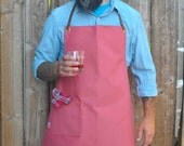 Nantucket Red Duck Canvas Men's Apron with Leather Straps