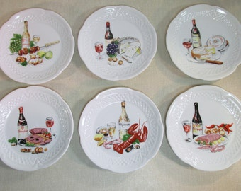 Wine and cheese on etsy a global handmade and vintage for Philippe deshoulieres canape plates