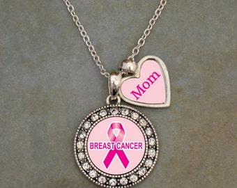 Custom Loved One Breast Cancer Awareness Necklace