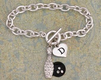 Custom Initial Bowling Bracelet