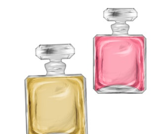 Commercial Use Instant Download  Couture Perfume Bottle PNG Graphics, Clipart