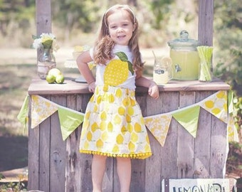 Lemon skirt for girls, lemon skirt toddler, lemon print girls skirt, lemon print toddler skirt, citrus girls skirt, lemon girl birthday gift