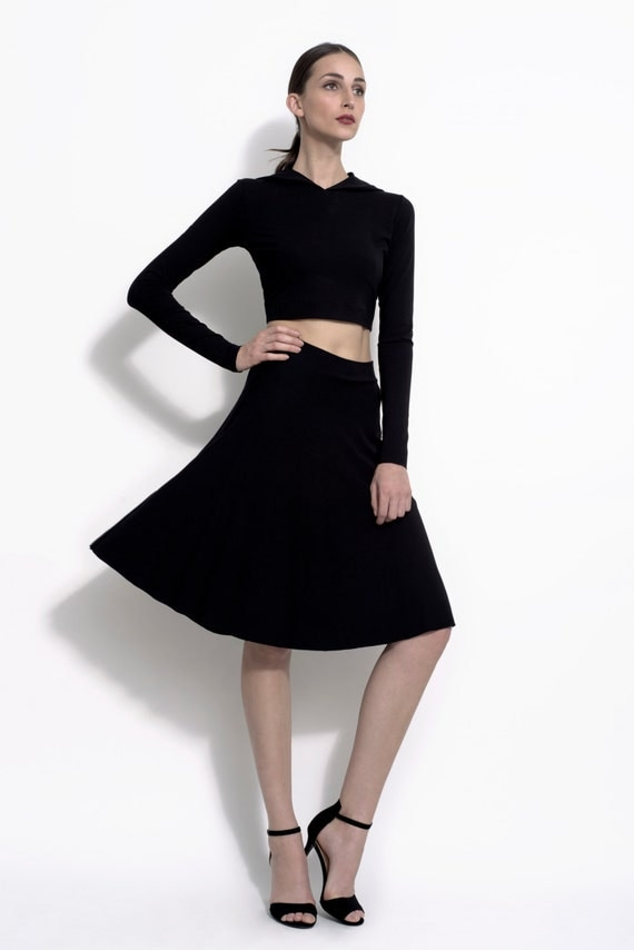 a line stretch bamboo jersey skirt the norma