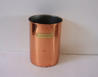 Vintage Copper Can marked with Gourmet Plaque