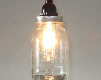 Mason Jar Pendant Light - Lighting, Rustic lighting- Farmhouse, kitchen lighting, mason jar light, mason jar lighting