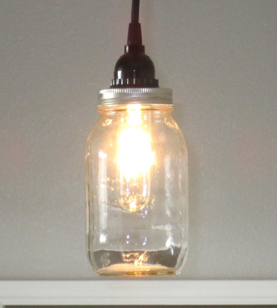 Mason Jar Pendant Light Lighting Rustic Lighting
