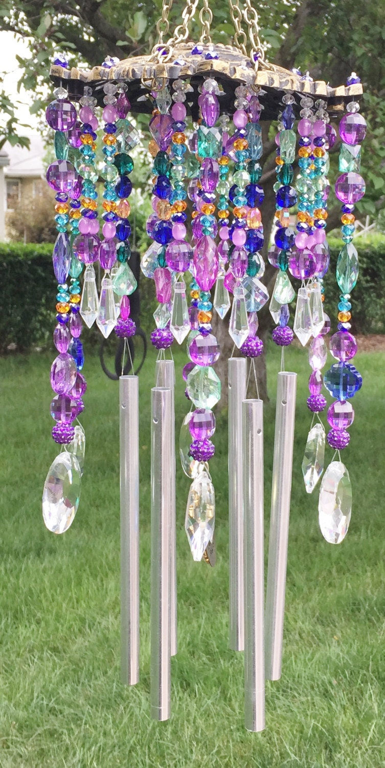 wind chime sun catcher beaded unique midnight in the. Black Bedroom Furniture Sets. Home Design Ideas