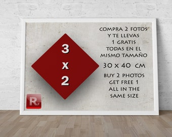 OFFER. Buyer of 2 photos 30 x 40, get 1 over 30 x 40 of your choice
