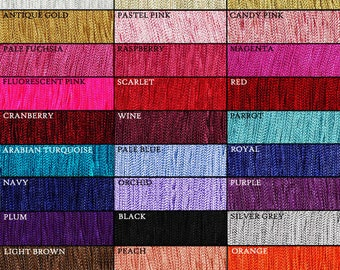36 Inch Long Chainette Fringe Trim ~ 36 Colors ~ Dance, Performance Outfit, Ballroom Gown, Belly Dancing, Dress, Costume ~ Price is per yard
