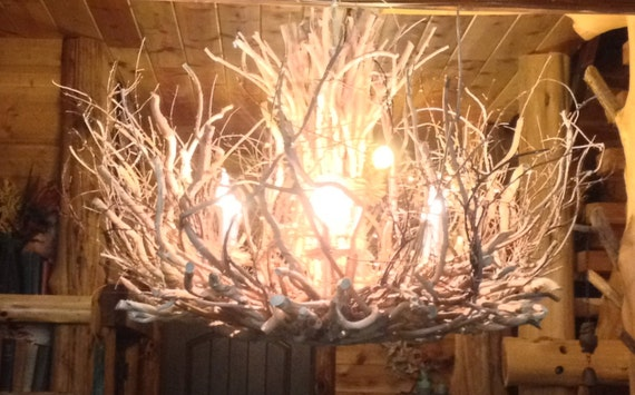 RainTree Tree Branch Chandelier 6 Light By CraftyGeminiCreation