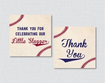 Baseball Baby Shower Printable Favor Tag - Baseball Baby Shower Favor Tags Little Slugger, Vintage Baseball Favor Tags - 0027