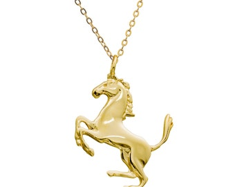 Horse necklace -14k gold filled everyday horse pendant, Animal jewelry, gold necklace, gold jewelry