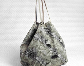 Khaki cotton shopping bag Philini