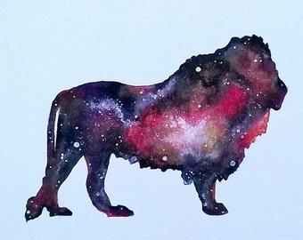 Custom Lion Galaxy Painting || Animal Painting || Zoo Art || Nursery Art || Galaxy Painting || Baby Room || Zoo Painting || Nursery