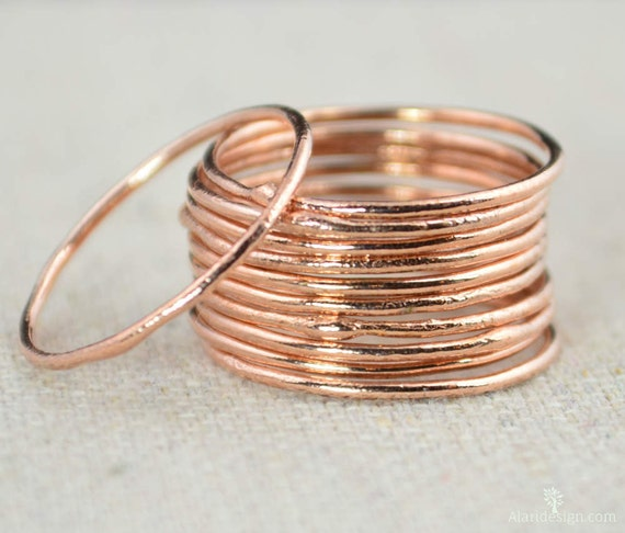 Thin Round Copper Stacking Rings Pure Copper Copper