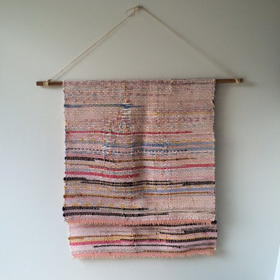 27 X 56 Striped Woven Cotton Rag Rug Runner By Mdrnvintagenest