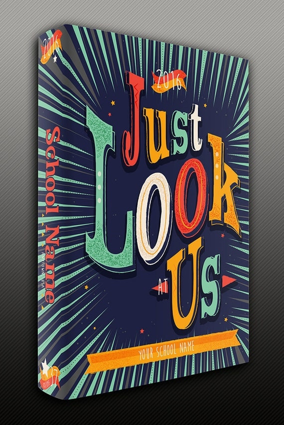 Yearbook Cover Art ~ Items similar to just look at us yearbook cover art