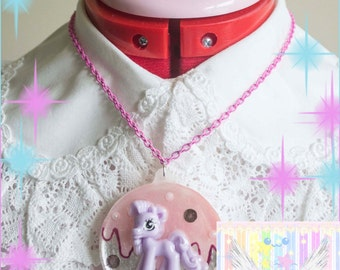 Drippy Pastel Pony Melty Necklace