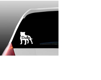 Personalized Pit Bull Car Window Decal