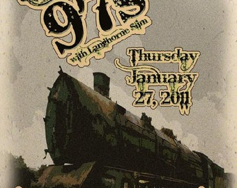 Old 97's Boulder Fox 2011 Colorado Concert Poster