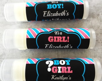 Baby Shower Lip Balm/Set of 5/Thank You Gift/ Boy Baby Shower/Girl Baby Shower/Lip Balm/ Chapstick/Custom Party Favors/Baby Shower Favor
