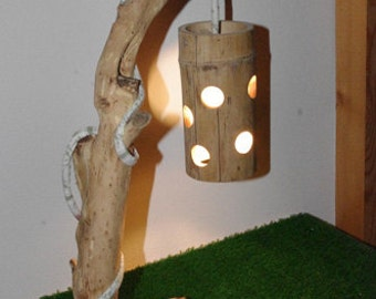 Table lamp with shade-bamboo Mod. GODAFOSS