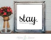 Art devis imprimable Jane Austen motivation citation rester à la maison décor minimaliste affiche murale impression art écrivain citation art typographique impression