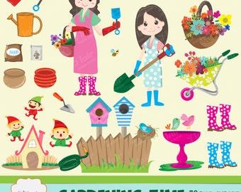 Garden tools clipart – Etsy