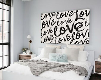 Modern Love Script Art - Large Home Decor Print